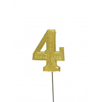 Jubileumcijfer 6,5cm Goud '4'