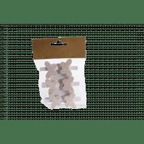 Clip Met Vlinder 3,8x3,5cm Wit Hout 6 Stuks