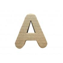 Letter A 7x8cm Papier Maché