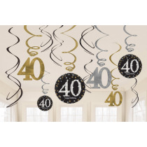 Swirl 45cm Sparkling Celebrations