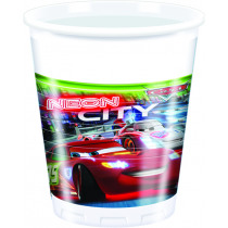Bekers Plastic 200ml Cars The Legend 8 Stuks