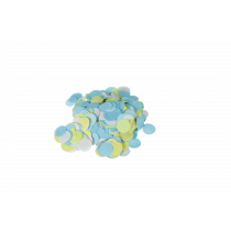 Tafelconfetti Mix 2,5cm Diameter - 40g Wit-Geel-Aqua