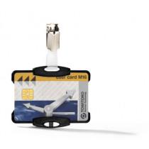 Veiligheidspashouder Met Clip 54X85Mm Durable Transparant 1 Pas