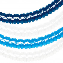 Harmonicaslingers 3,6m 10cm Diameter 2x Wit - 1x Blauw - 1x Donkerblauw 4 Stuks