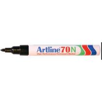 Permanentmarker Artline 70 Zwart Ronde Punt 1,5mm 2 Stuks