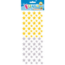 Fun Stickers Sterren Goud/Zilver