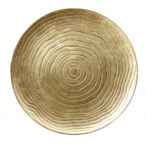 Decobord Goud 33cm Diameter Geribbeld