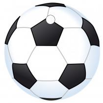Naamkaart 4Cm Diameter Voetbal 25 Stuks