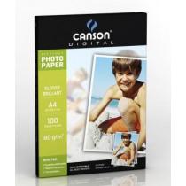 Print-On Fotopapier Canson 180G/M² A4 Glossy 100Vellen