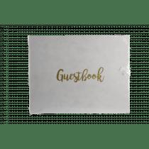 Gastenboek 20x26cm Wit Prestige