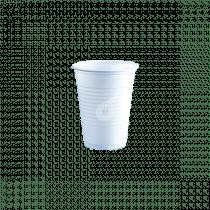 Drinkbeker Wit Plastic 180ml 100 Stuks