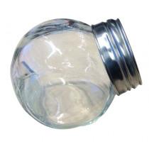 Potje Glas Inox/Plexi 50ml Schuin