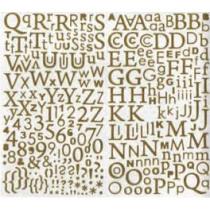 Alfabet Goud Glitter 300 Stuks