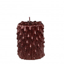 Kaars Pillar Dripping 10cm Bordeaux 7,5cm Diameter