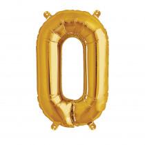 Ballon Folie 41cm Goud 'O'