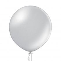 Ballon Metallic Uni 60cm Zilver