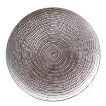 Decobord Taupe 33cm Diameter Geribbeld