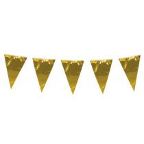 Vlaggenlijn 10M X 45Cm X 30Cm Goud Metallic