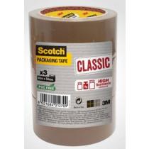 Verpakkingstape Klassiek 66m x 50mm Scotch Bruin 3 Rollen
