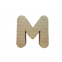 Letter M 7x8cm Papier Maché