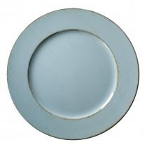 Decobord 33cm Diameter Blauw Mist En Wit