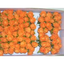 Roosjes Mini 2cm Oranje Foam 12 Stuks