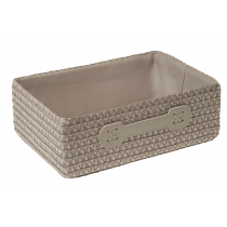 Mand Stof 25x18x9cm Taupe