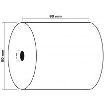 Rekenrol Therm. 76M X 80Mm Exacompta 80Mm Diam 12Spil 5Rollen