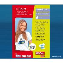 T-Shirttransfert Apli Wit A4 Inkjet 5Vellen