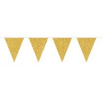 Glitter Vlaggenlijn Goud 6m