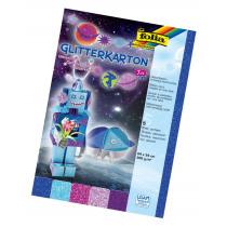 Glitterkarton 24x34cm Folia 300G/M² Ice