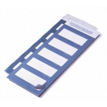 Etiket Textiel 30X60Mm Durable Wit/Blauw (Nt Voor Printer) 50 Stuks