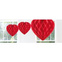 Coeur 30cm Rouge Alvéolé
