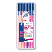 Kleurstiften Triplus Staedtler Flamingo Colours Assorti 6 Stuks