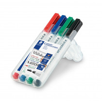 Lumocolor Whiteboard Marker 1-2mm Staedtler Assorti 4 Stuks