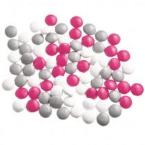 Vanparys Mini Confetti Mix Wit/Grijs/Fuchsia Glossy 1kg