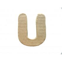 Letter U 7x8cm Papier Maché