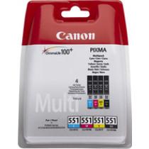 Canon Cartridge Zwart + Tricolor Cli-551 4Pack