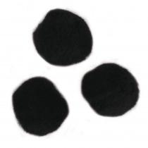 Pompon Zwart 20mm Diam 50 Stuks
