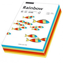 Rainbow 80g/m² Mixed Colour Pack Pastel (5x20 Vellen) A4 100 Vellen