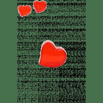 Boite Coeur Plexi 5,5x5x3cm Rouge
