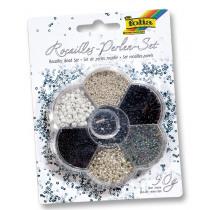 Rocailles + Toebehoren Folia 90G Zilver/Zwart