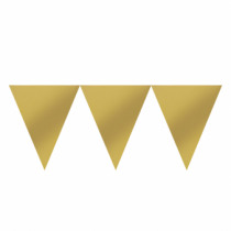 Vlaggenlijn 4,5m x 24,5cm Goud