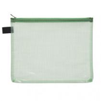 Pochette Groen Met Rits Transparant A5