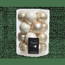 Kerstbal Glas Glans En Mat 6cm Diameter 20 Stuks Parel Mix