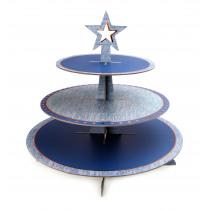 Presentatiemand Jersey 45cm Blauw 44cm Diameter Ster
