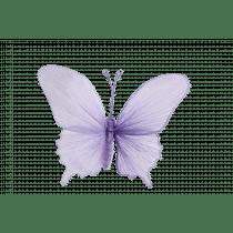 Hangdeco 31x21x5cm Lila Papier Vlinder
