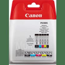 Canon Cartridge Zwart + Tricolor Pgi 570 + Cli 571