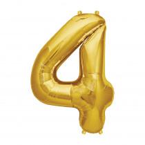 Ballon Folie 41cm Goud '4'
