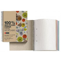 SPIRAALSCHRIFT A4 ECO 100% RECYCLE LEAVES GERUIT